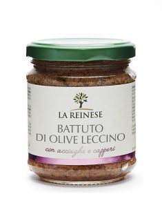 Battuto di olive leccino con acciughe e capperi