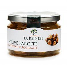 Olive farcite con tonno e acciughe