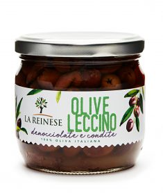 Olive leccino denocciolate in olio di semi di girasole
