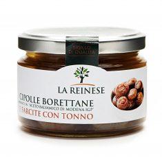 """Cipolle Borettane marinate in """"Aceto balsamico di Modena IGP"""" e farcite con tonno"""